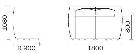 Igloo bar modułowy Pedrali konsola
