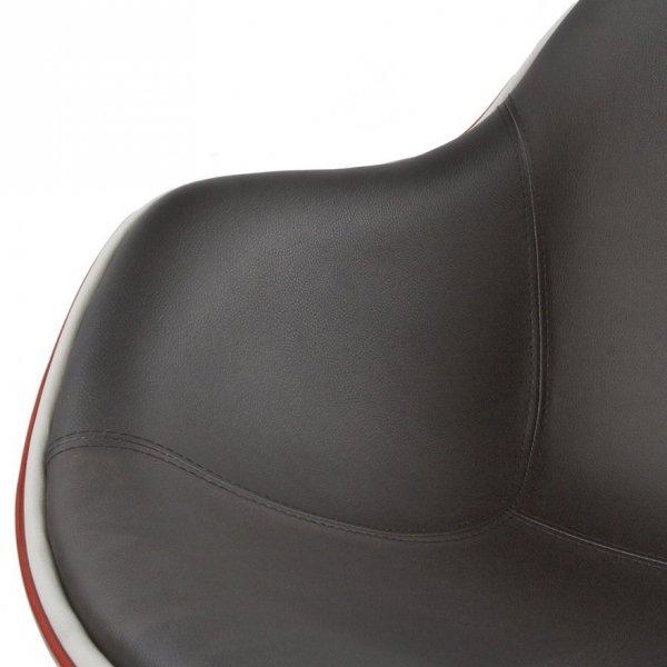 Daytona stylowy fotel obrotowy Czerwono-Czarny