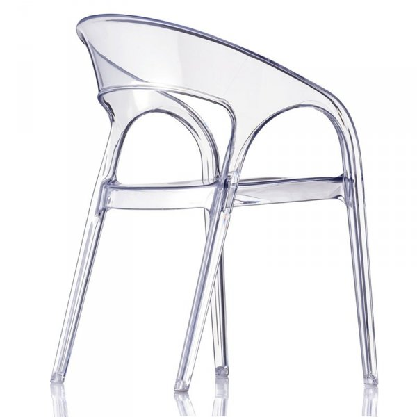 Transparentne krzesła do jadalni Gossip 620 Pedrali