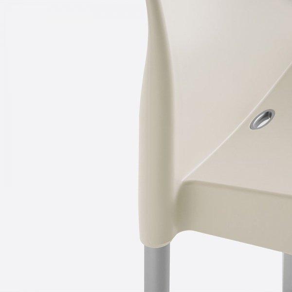 Nowoczesne krzesła z tworzywa o wytrzymałej budowie Ice 800