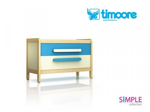 Komoda z 2 szufladami z serii Simple Timoore