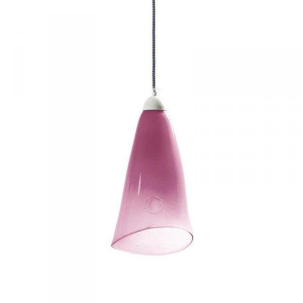 Lampa szklana pastelowy róż Gie El