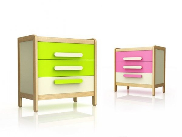 Komoda z 3 szufladami z serii Simple Timoore