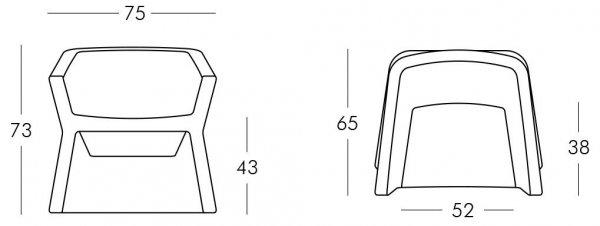 Exofa fotel Slide