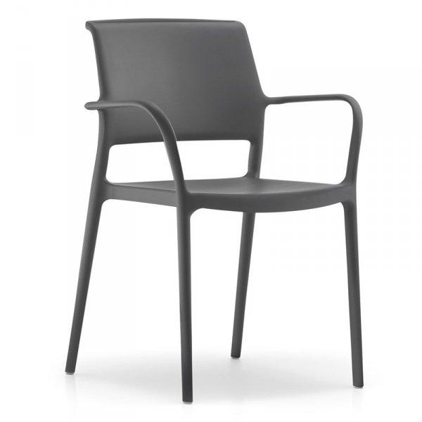 Nowoczesne krzesła ogrodowe Ara 315 grafitowe