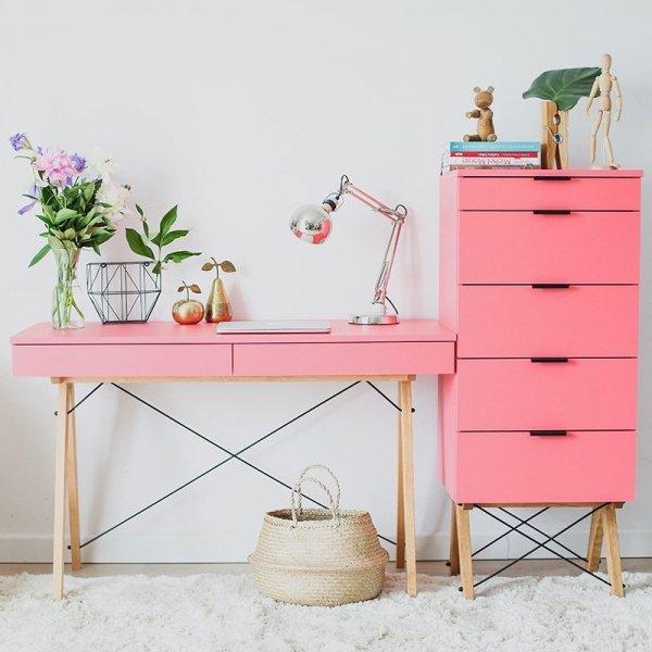 Idealny zestaw do domowego biura - biurko i kontenerek marki Minko