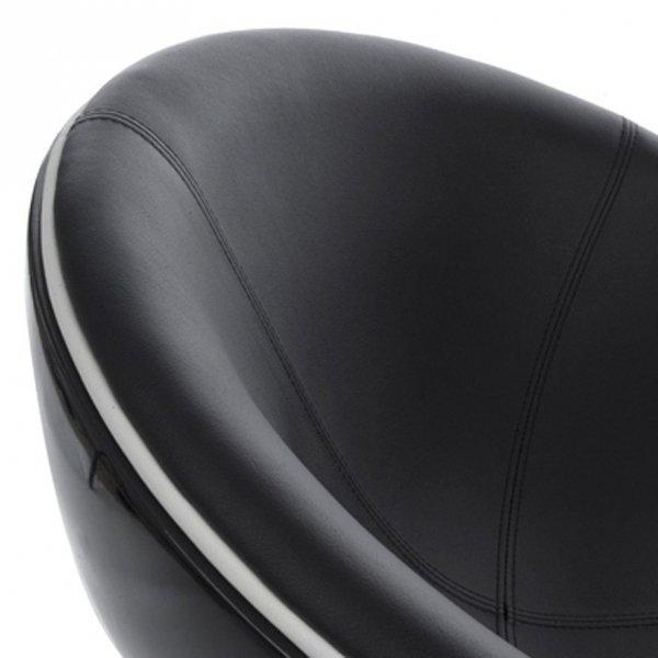 Sphere nowoczesny fotel czarny