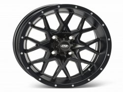 HURRICANE 12x7 4/110 2+5 1228628536B  Matte Black