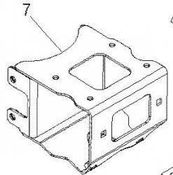 Płyta montażowa wyciągarki Polaris XP Weld Winch Mount  1015802