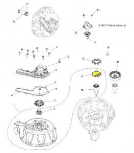 Element pompy wodnej Polaris 5136306 - Coupler Waterpump Bearing