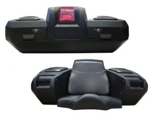 Kufer+fotel KIMPEX Deluxe ATV Trunk (światło)