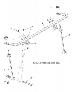 Drążek stabilizatora przedniego Polaris RZR 570/800 1542748