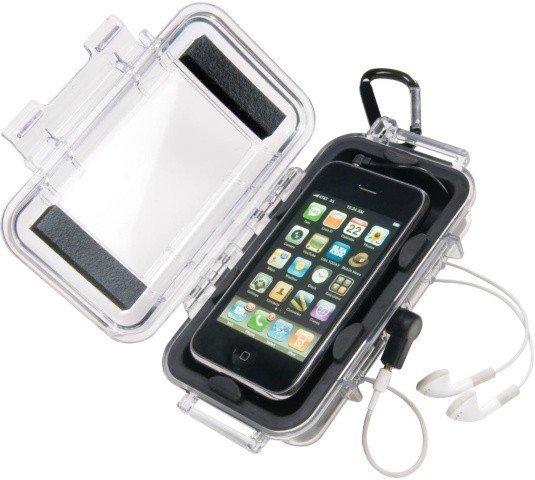 Wodoodporna skrzynka Peli i1015 na Iphone