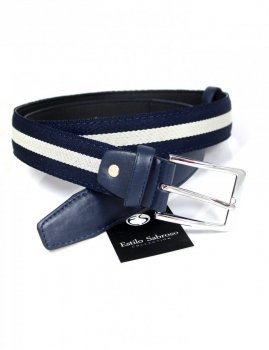 Men`s belt navy Estilo Sabroso ES04925