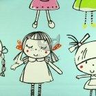 Bawełniane tkaniny do pokoju dziecka wzór laleczki  KEKAS COL 2