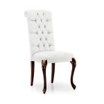 Krzesło w angielskim stylu pikowane oparcie Serena