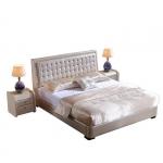 Łóżko pikowane kwadratowe oparcie Jadeit