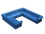 Pikowana narożna sofa U Chesterfield Classic ogromny