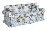 Fartuchowiec w stylu cottage kanapa bez funkcji spania Christine 188 cm