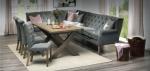 Narożna ławka do kuchni i 3 krzesła Annmarie