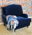 Granatowy fotel do salonu Marlene