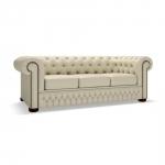Duża pikowana sofa w skórze Windsor Slim 250 cm