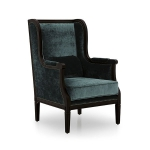 Fotel stylizowany z wysokim oparciem Gallia