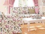 Sofa wzory kwiatowe + funkcja spania Marie 206 cm