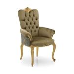 Szeroki fotel stylizowany bogate inkrustacje Bronte