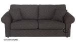 Grafitowa sofa 3-osobowa (Classic bok 03-27 cm)