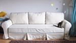 Sofa w stylu prowansalskim luźny pokrowiec z lnem Marie wer. 246 cm