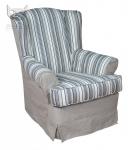Fotel ze ściąganym obiciem w stylu angielskim Flower