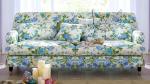 Kanapa w niebieskie róże stylizowana 220 cm Isabella