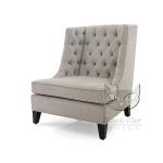 Fotel z pikowanym oparciem Fortuna