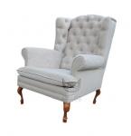 Fotel w eleganckim obiciu Królewski fotel