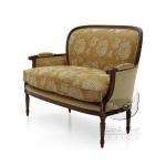 Dwuosobowa sofa klasyk sielskiego stylu Iside