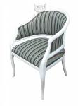Duże wygodne krzesło tapicerowane Beatrice