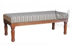 Toczone nogi ławka w stylu ludwikowskim Leonel