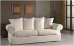 Sofa w stylu skandynawskim z funkcją spania i zdejmowanym pokrowcem EMMA