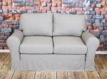 Sofa lniana rozkładana z pojemnikiem Marie 186 cm