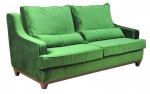 Soczyście zielona kanapa w stylu vintage Lukrecja 215 cm/FS