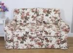 Brązowo beżowe kwiaty sofa do salonu+spanie Marie 166 cm/FS