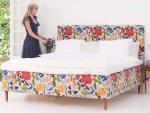Łóżko w kwiaty Florio 160x200 cm