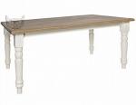 Stół 6 osobowy w stylu prowansalskim Sevilla biały 160x90 cm
