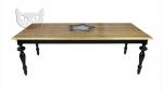 Lakierowany na wysoki połysk stół z blatem dębowym 180x100 cm- Venice