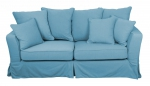 Turkusowa sofa do salonu rozkładana Vivienne 190 cm/FS