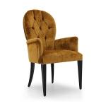 Meble włoskie krzesło z podłokietnikami Calipso