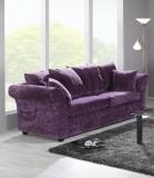 Sofa w śliwkowej tkaninie Classic