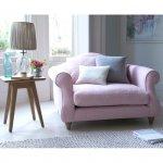 Pudrowy róż jenoosobowa sofa Lidia