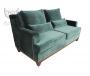 Stylowa sofa w butelkowej zieleni- Lukrecja 215 cm